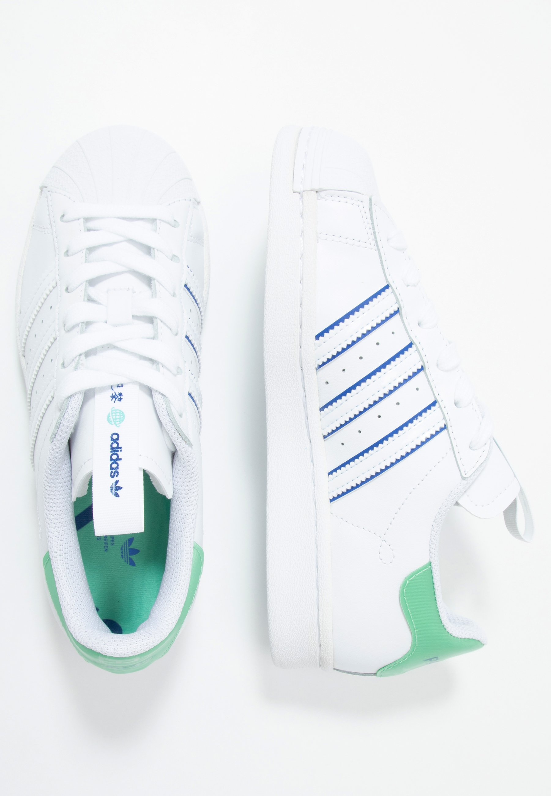 Adidas Originals Superstar - Sneakers Laag Footwear White/prism Mint/collegiate Royal Goedkope Schoenen