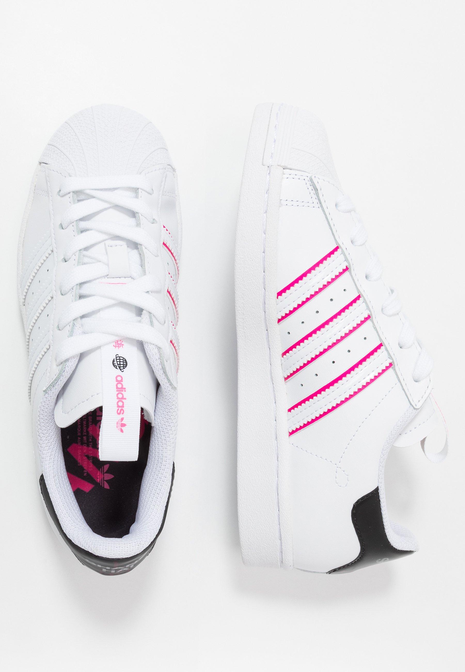 adidas Originals SUPERSTAR - Sneakersy niskie - footwear white/core black/shock pink