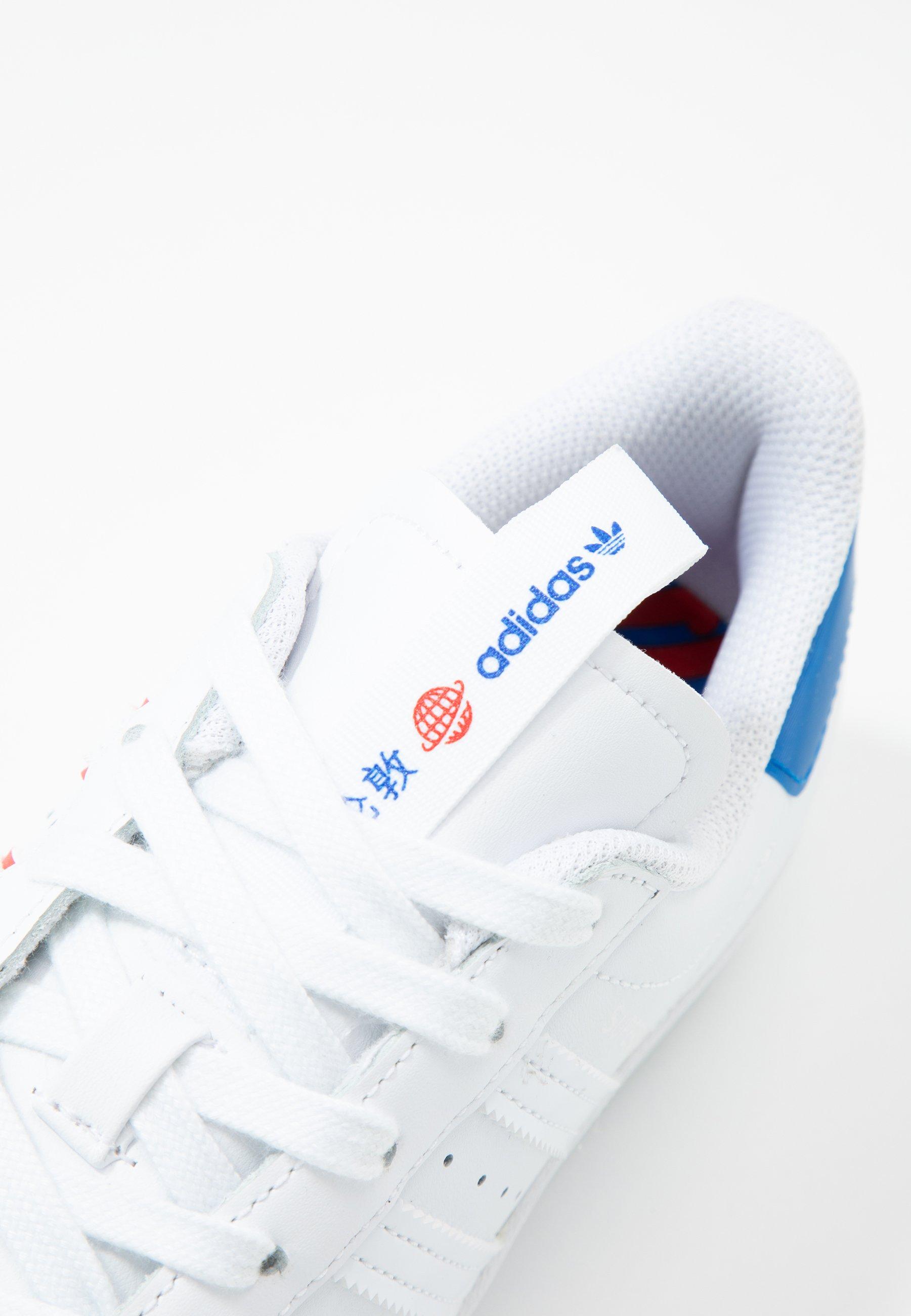 Adidas Originals Superstar - Sneakers Laag Footwear White/glow Blue Goedkope Schoenen