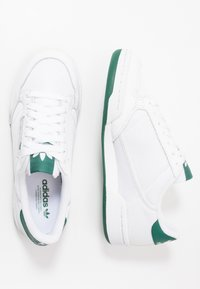 adidas Originals - CONTINENTAL 80 - Baskets basses - footwear white/grey one/collegiate green - 1