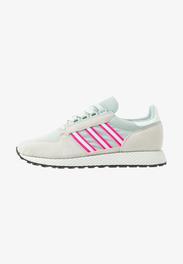 FOREST GROVE - Sneakersy niskie - ash silver/dash green/shock pink