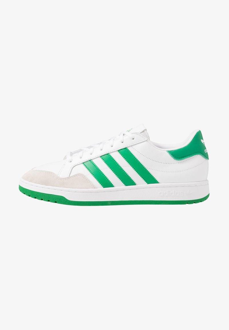 adidas Originals - TEAM COURT - Baskets basses - footwear white/green/core black