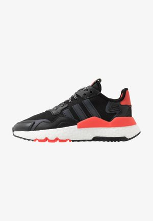 NITE JOGGER - Sneakersy niskie - core black/footwear white/hi-res red