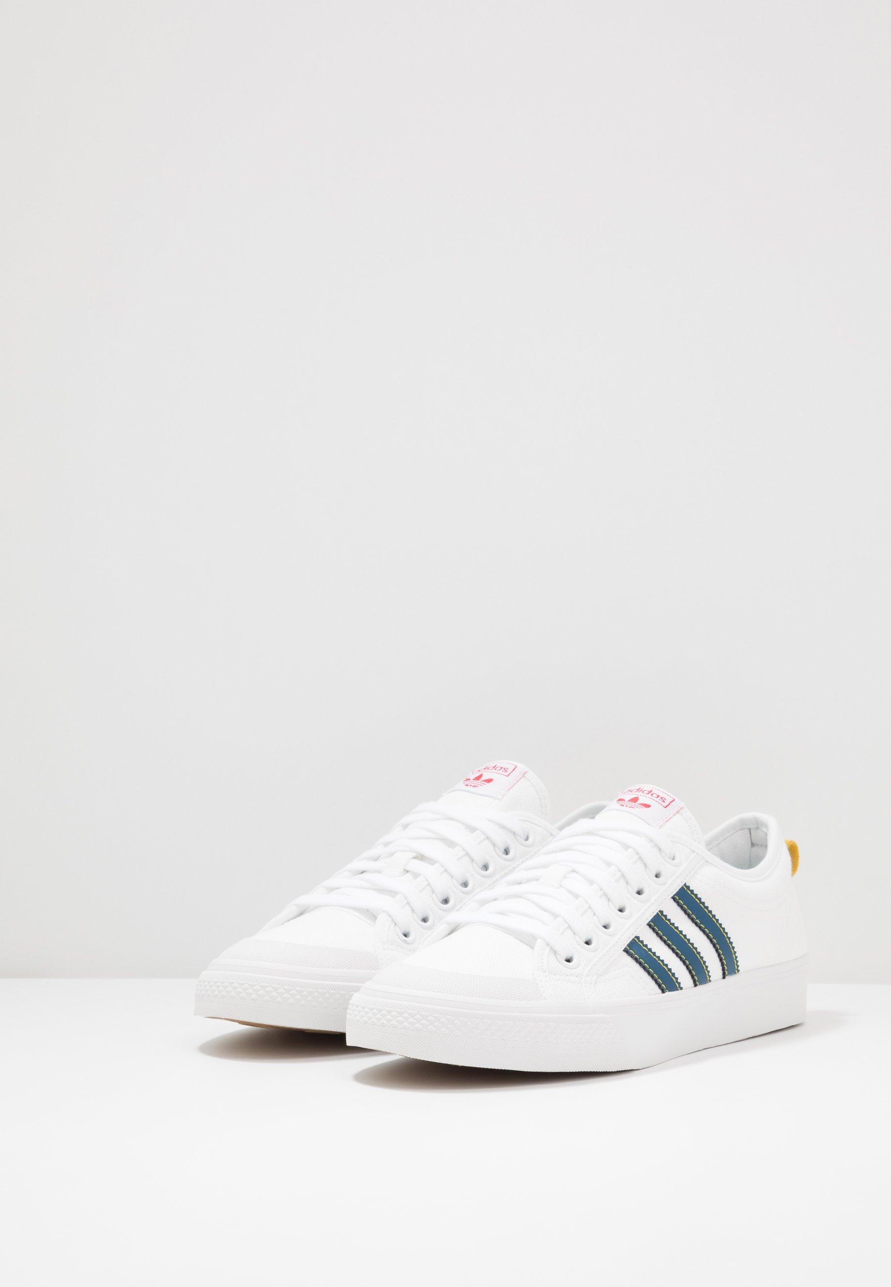 Adidas Originals Nizza - Baskets Basses Footwear White/legend Marine/tribe Yellow