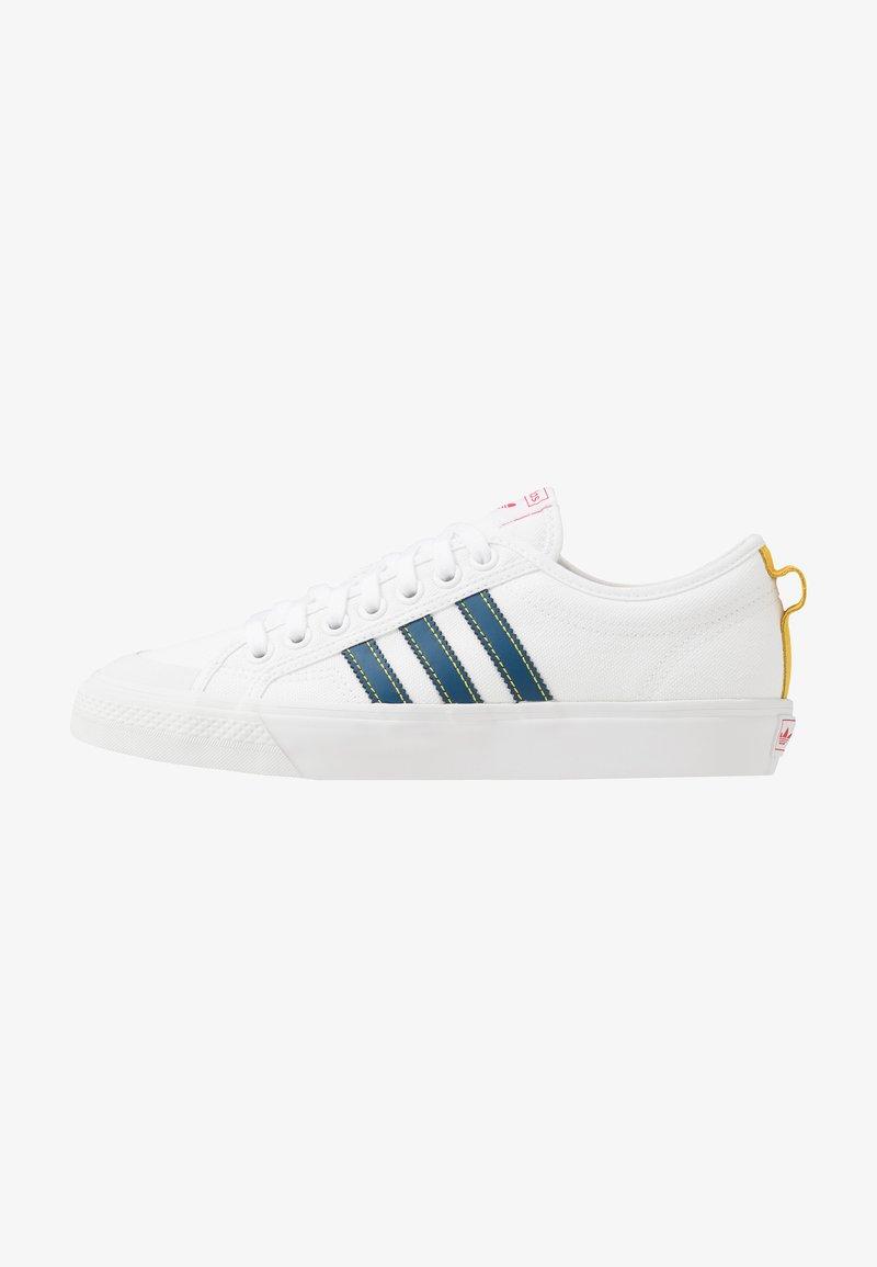 adidas Originals - NIZZA - Trainers - footwear white/legend marine/tribe yellow