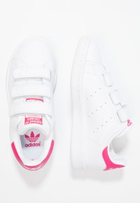 adidas Originals - STAN SMITH - Trainers - white/bold pink - 1