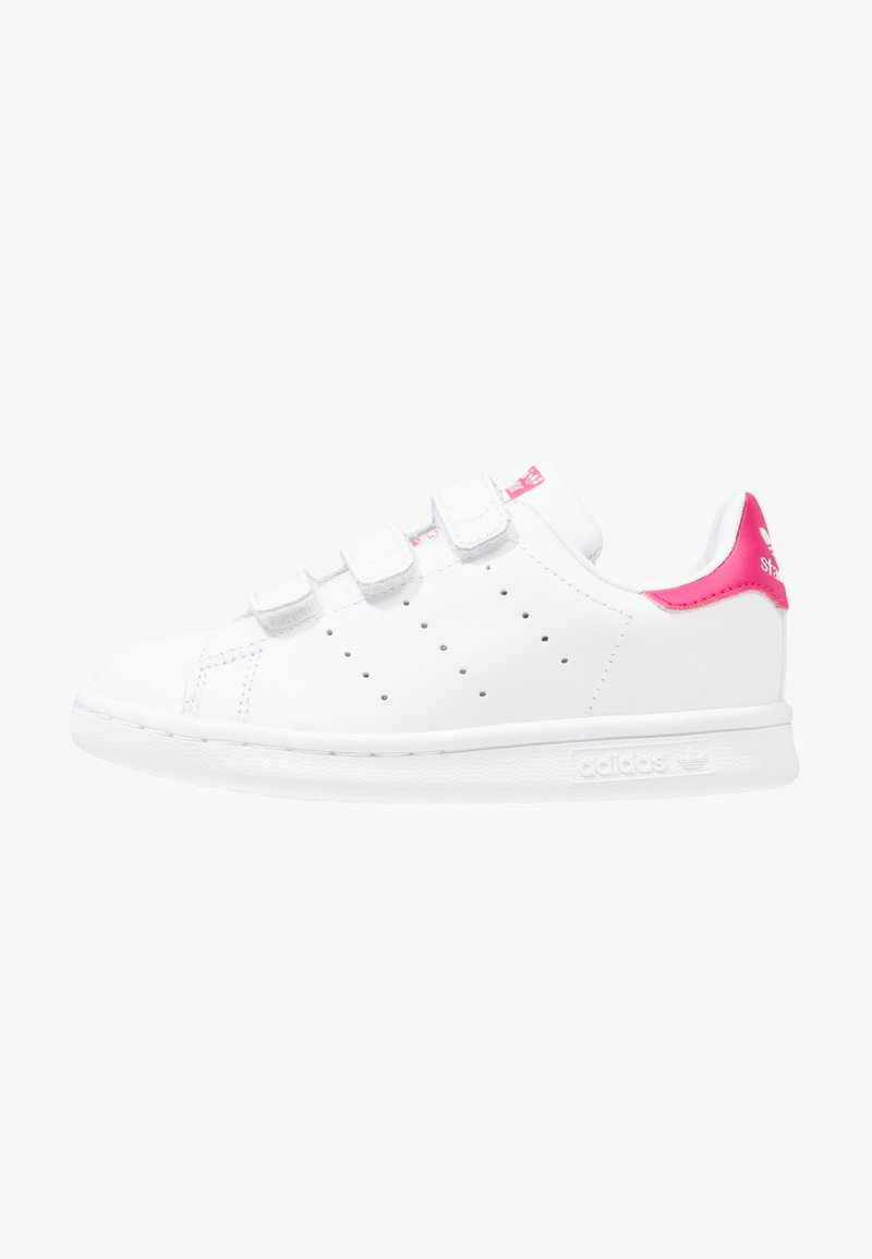 adidas Originals - STAN SMITH - Trainers - white/bold pink