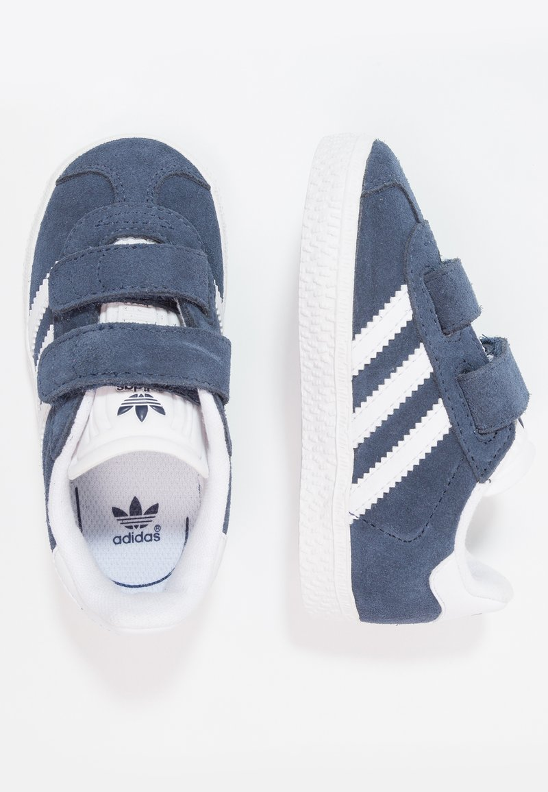 adidas Originals - GAZELLE - Joggesko - collegiate navy/footwear white
