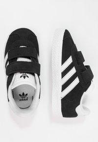 adidas Originals - GAZELLE - Trainers - core black/footwear white - 0