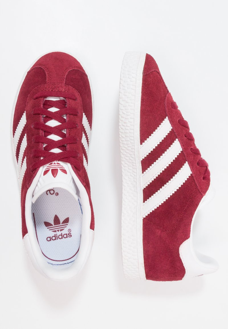 adidas Originals - GAZELLE - Joggesko - footwear white/collegiate burgundy