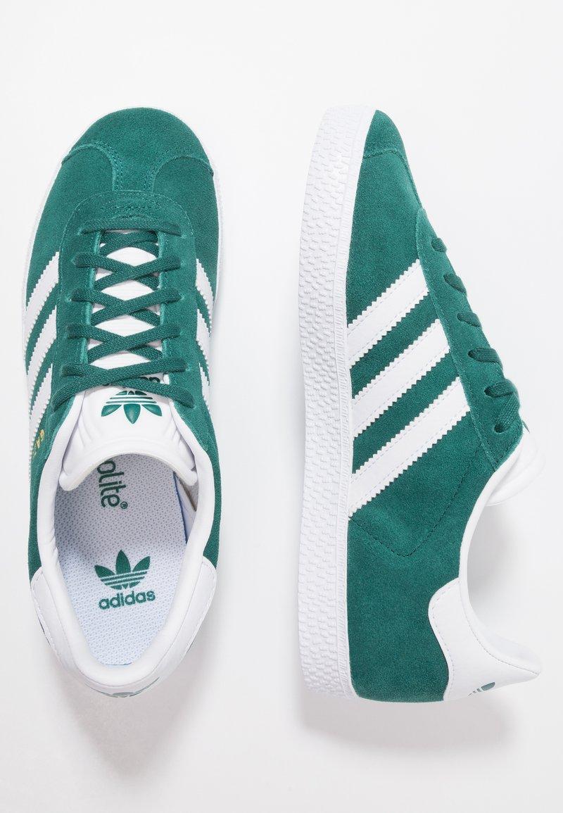 adidas Originals - GAZELLE - Sneakers laag - noble green/footwear white