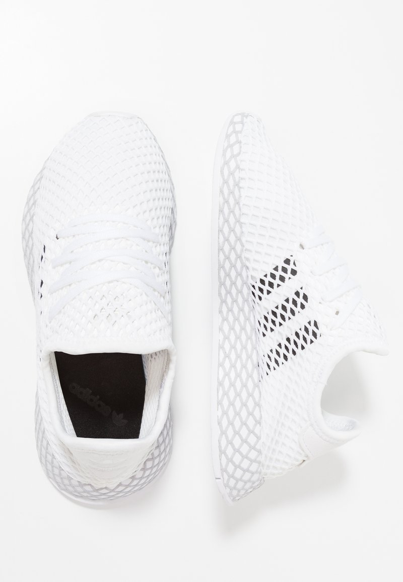 adidas Originals - DEERUPT RUNNER - Trainers - footwear white/core black/grey two