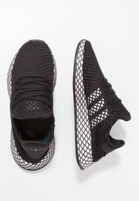 adidas Originals - DEERUPT RUNNER - Trainers - core black/footwear white/grey five - 0