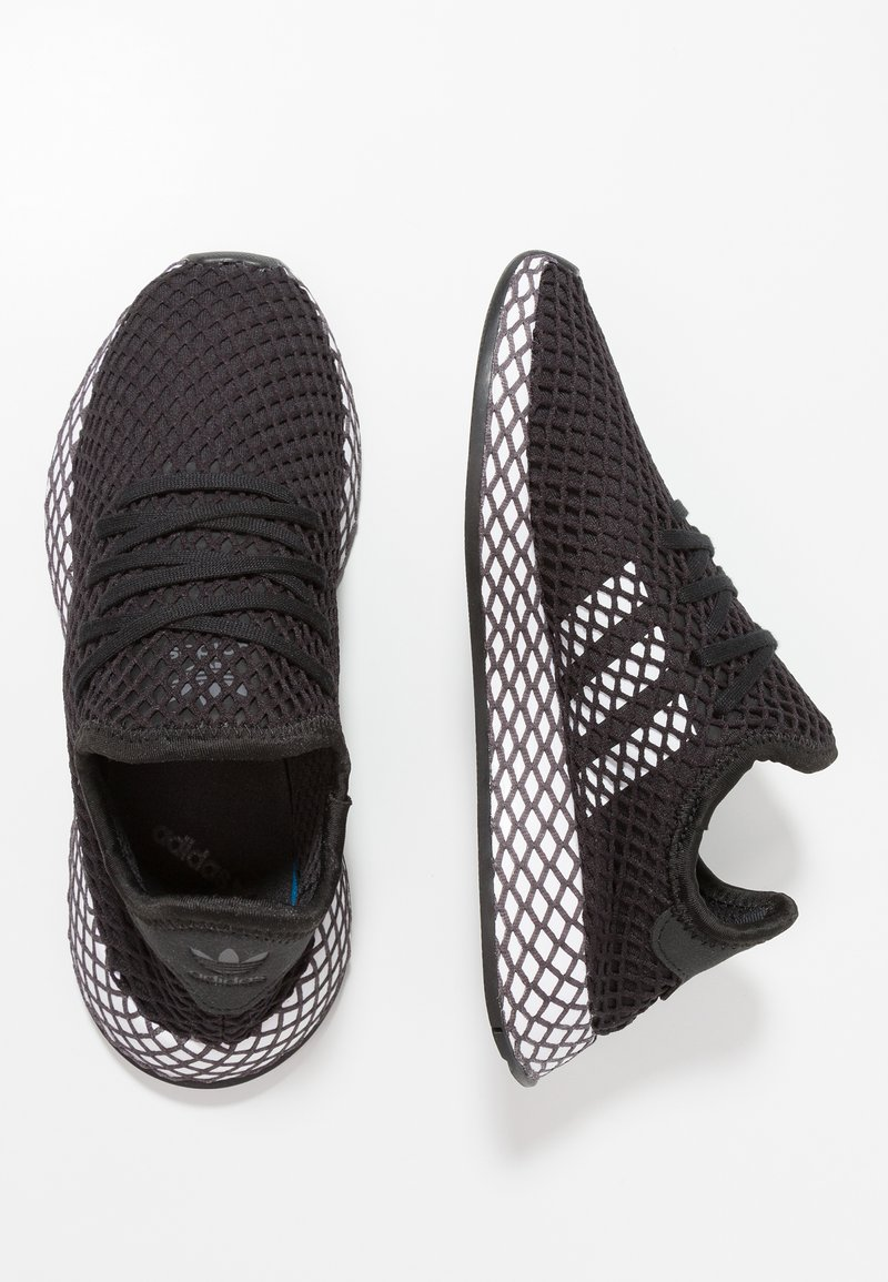 adidas Originals - DEERUPT RUNNER - Trainers - core black/footwear white/grey five