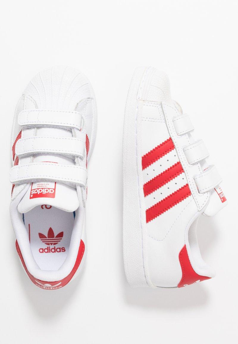 adidas Originals - SUPERSTAR - Trainers - footwearwhite/scarlet