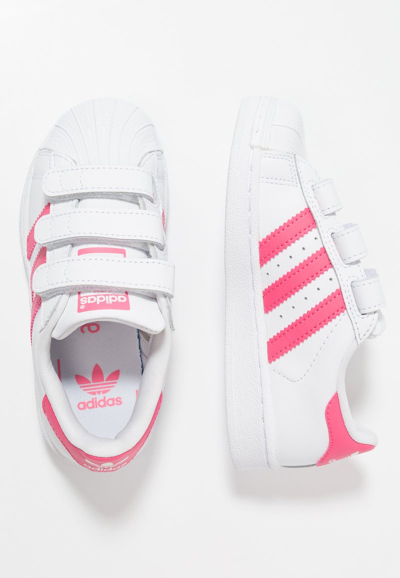adidas Originals - SUPERSTAR - Trainers - footwear white/real pink