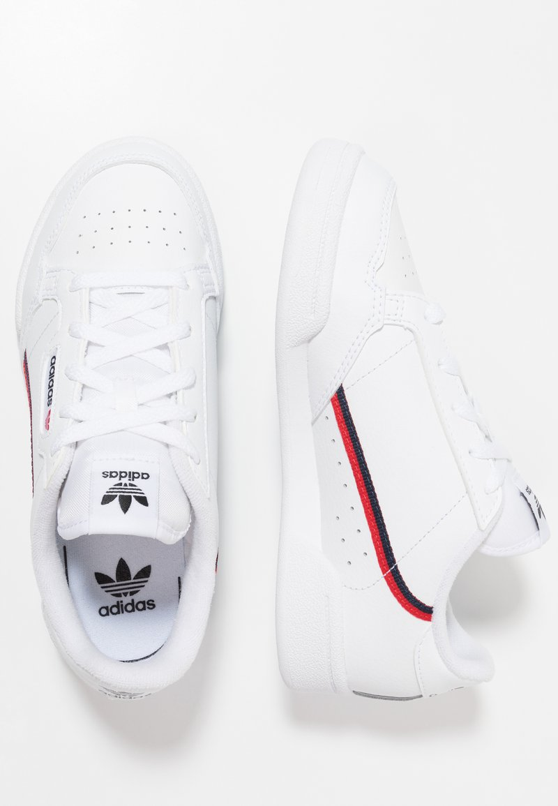 adidas Originals - CONTINENTAL 80 - Matalavartiset tennarit - footwear white/scarlet/collegiate navy