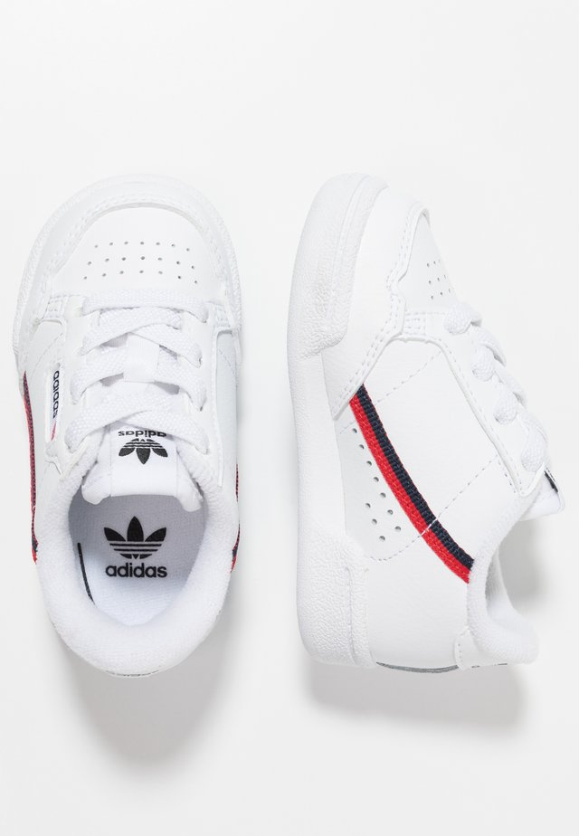 CONTINENTAL 80 - Zapatos de bebé - footwear white/scarlet/collegiate navy