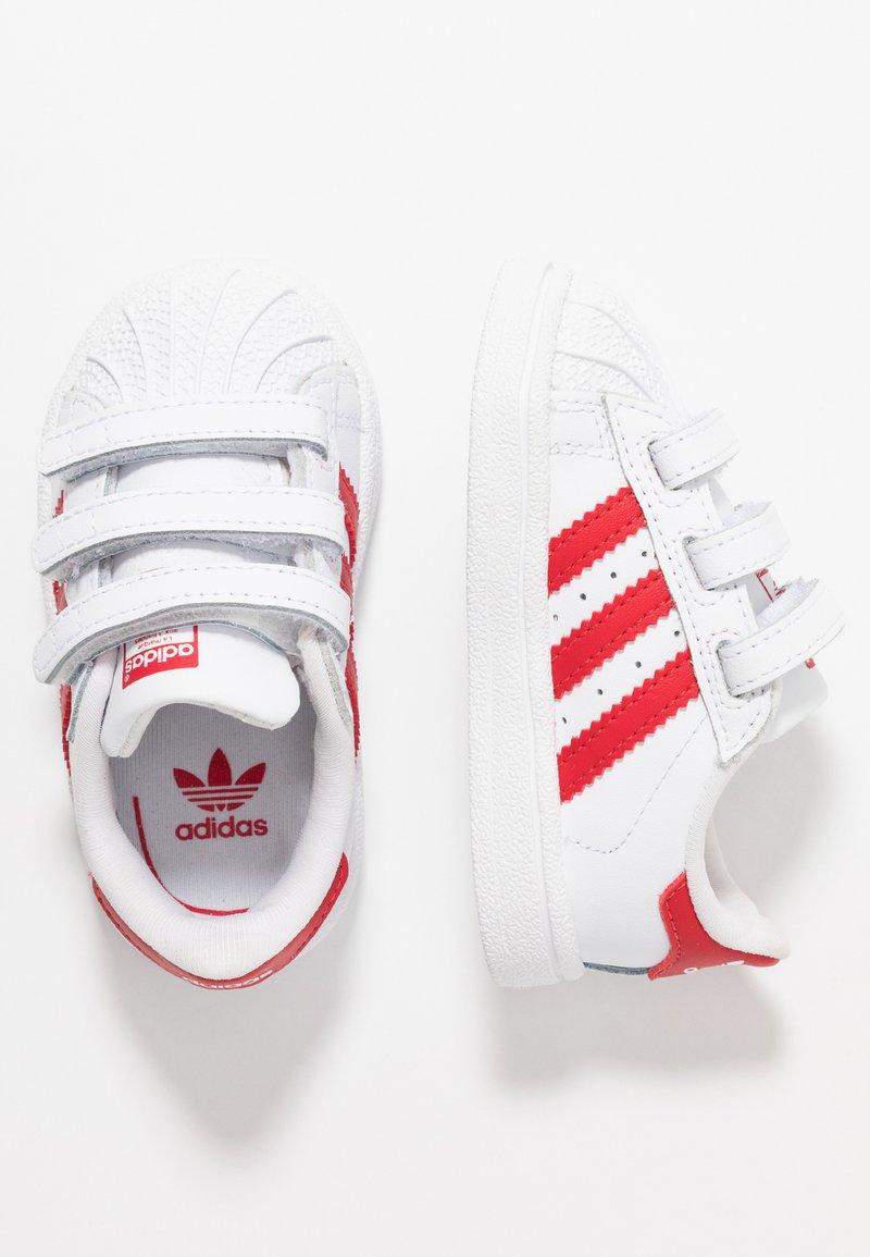 adidas Originals - SUPERSTAR CF - Sneaker low - footwear white/scarle