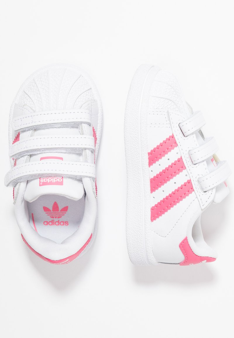 adidas Originals - SUPERSTAR CF - Sneaker low - footwear white/real pink