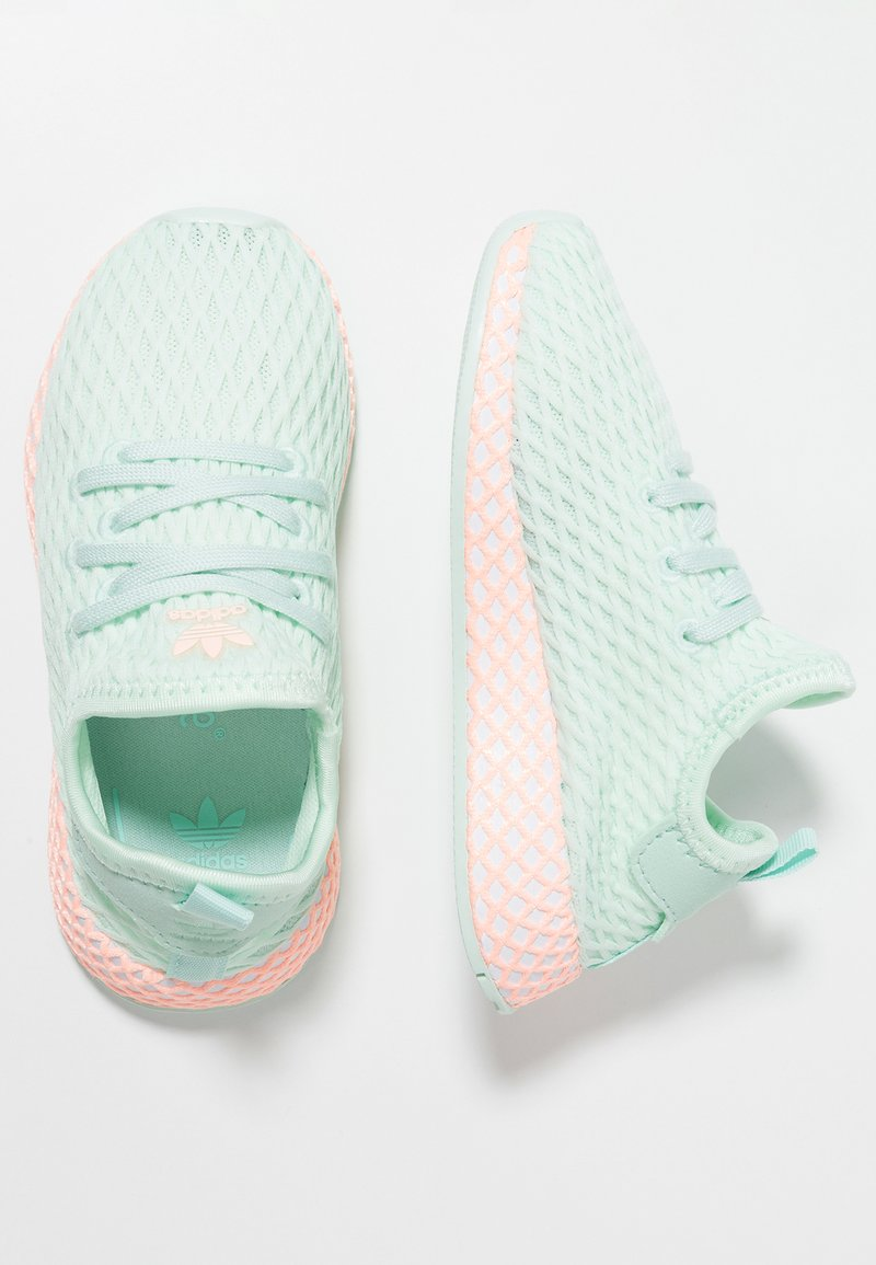adidas Originals - DEERUPT RUNNER - Sneakers laag - ice mint/footwear white/clear orange