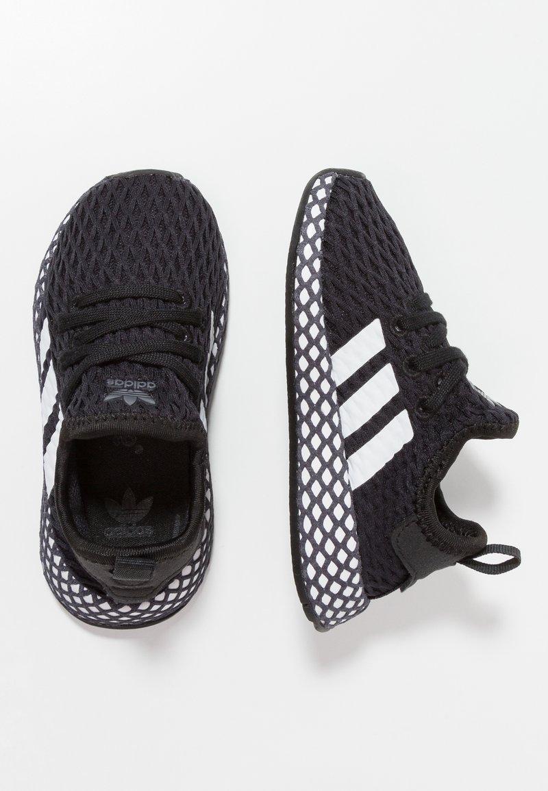 adidas Originals - DEERUPT RUNNER - Trainers - core black/footwear white/grey five