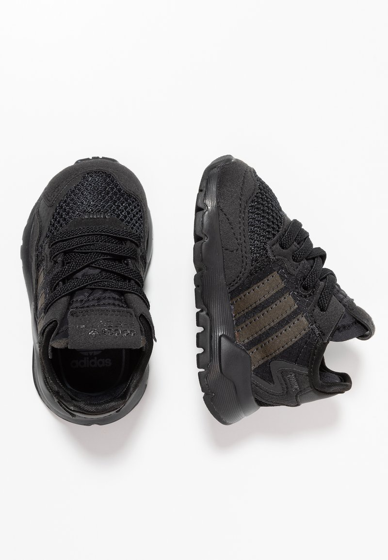 adidas Originals - NITE JOGGER - Slip-ons - core black/carbon/grey five