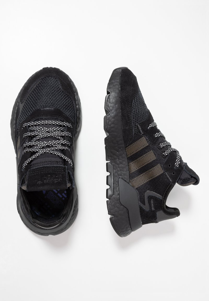adidas Originals - NITE JOGGER  - Trainers - core black/carbon/grey five