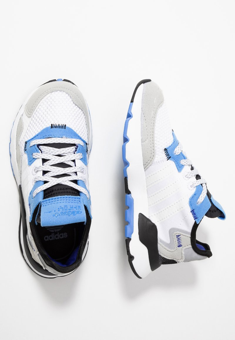 adidas Originals - NITE JOGGER - Baskets basses - footwear white/real blue