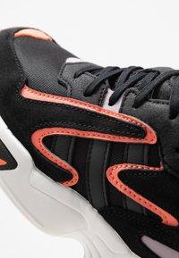 adidas Originals - YUNG-96 CHASM - Trainers - core black/semi coral - 2
