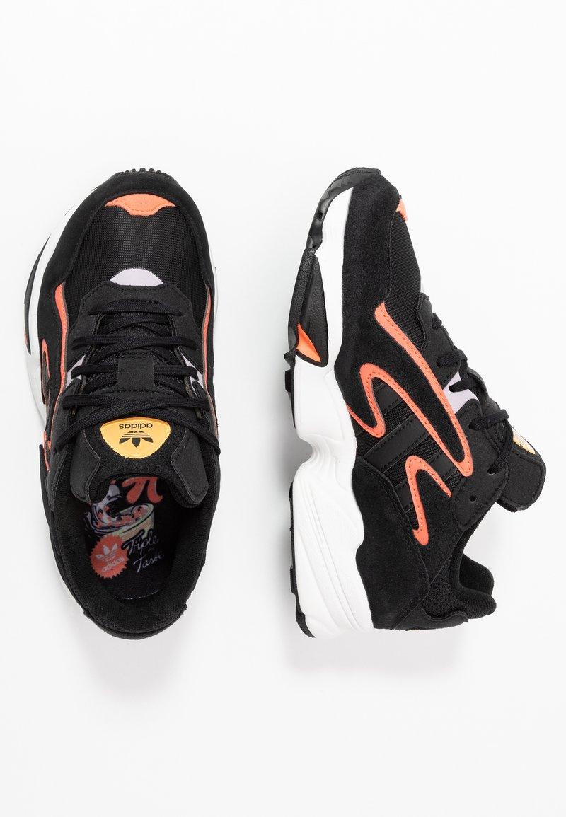 adidas Originals - YUNG-96 CHASM - Trainers - core black/semi coral