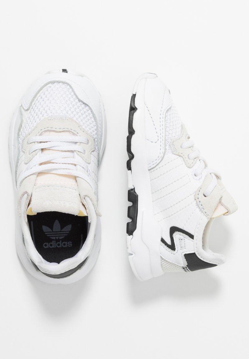 adidas Originals - NITE JOGGER - Slip-ons - footwear white/crystal white