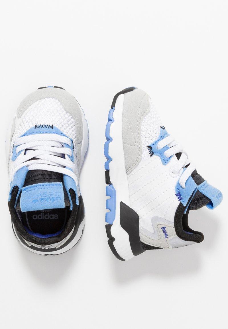 adidas Originals - NITE JOGGER - Slip-ons - footwear white/real blue