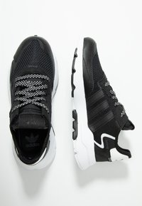 adidas Originals - NITE JOGGER - Trainers - core black/carbon - 0