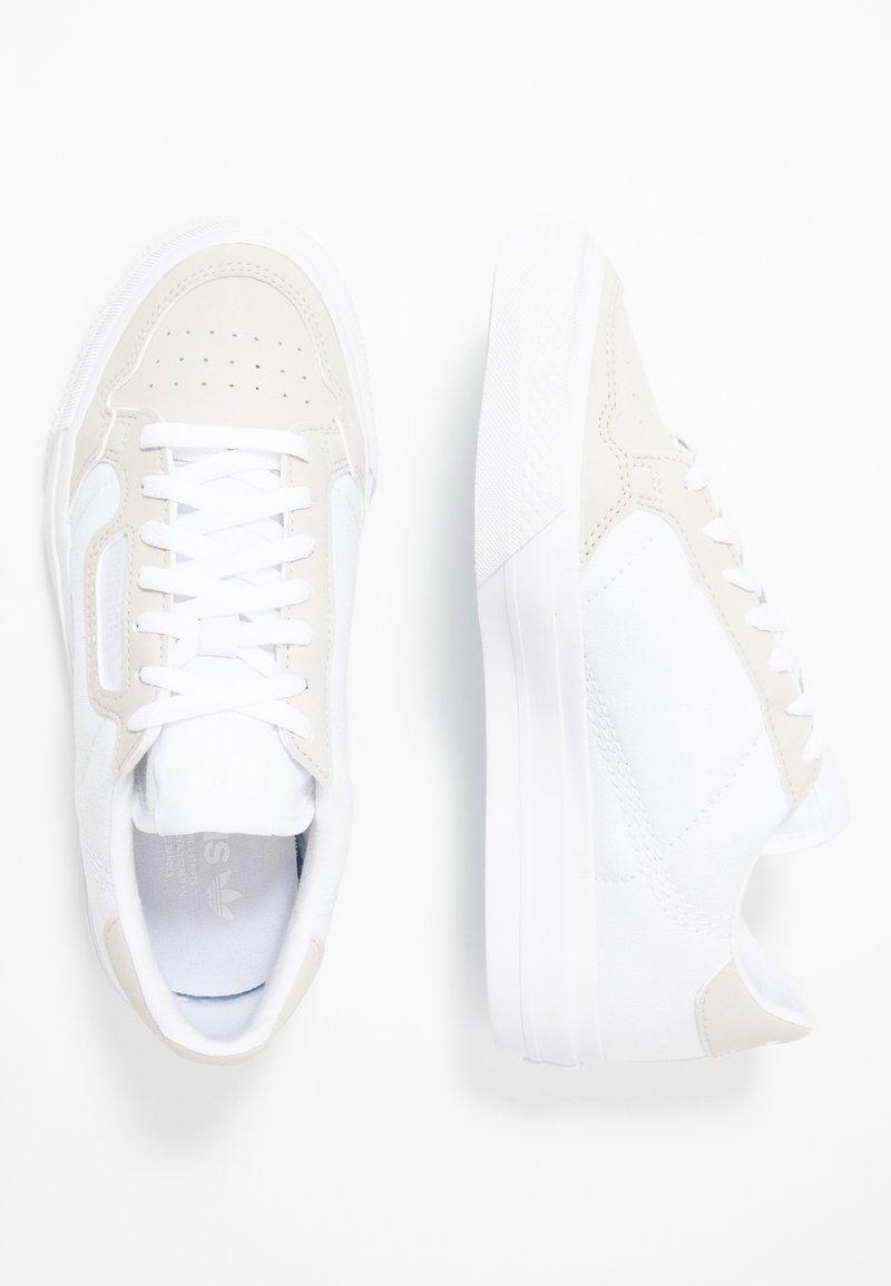 adidas Originals - CONTINENTAL VULC - Sneakers - footwear white/grey one