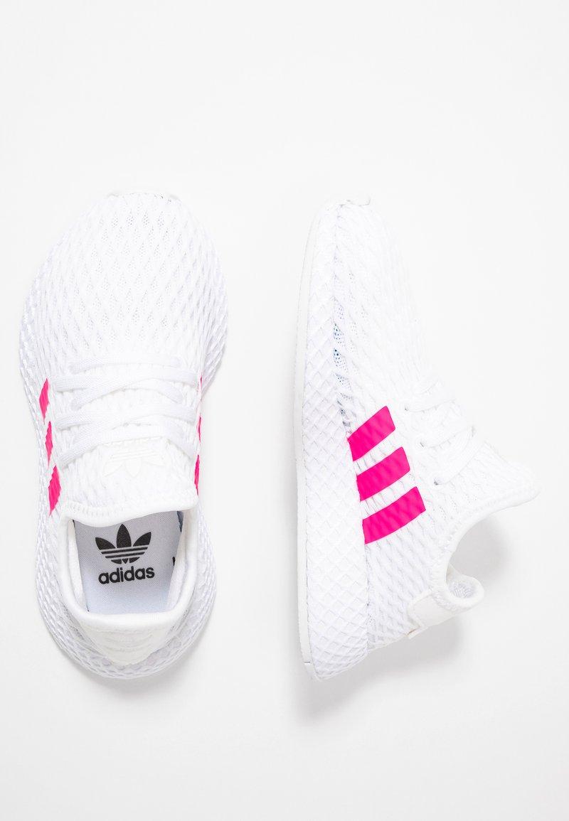 adidas Originals - DEERUPT RUNNER - Sneaker low - footwear white/shock pink/core black