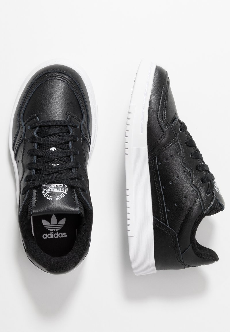adidas Originals - SUPERCOURT - Sneaker low - core black/footwear white