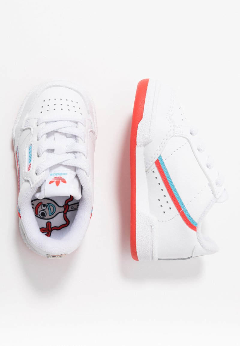 adidas Originals - TOY STORY X CONTINENTAL 80 - Slip-ons - footwear white/bright red/bright cyan