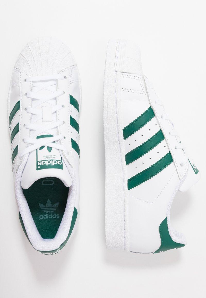 adidas Originals - SUPERSTAR - Sneaker low - footwear white/collegiate green