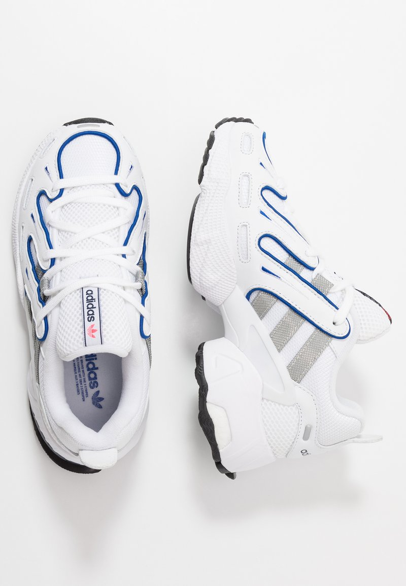 adidas Originals - EQT GAZELLE - Baskets basses - footwear white/grey two/clear royal