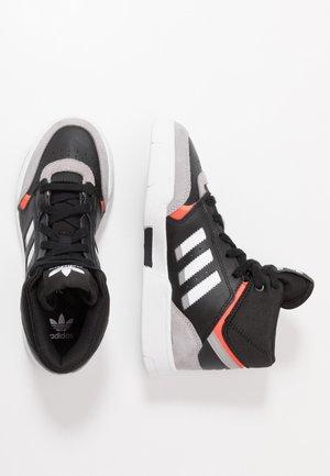 DROP STEP - High-top trainers - core black/light granite/solar red