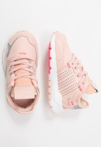 adidas Originals - NITE JOGGER - Slip-ons - vapor pink/silver metallic/real pink - 0