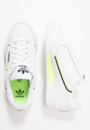 CONTINENTAL 80 - Baskets basses - footwear white/signal green/core black