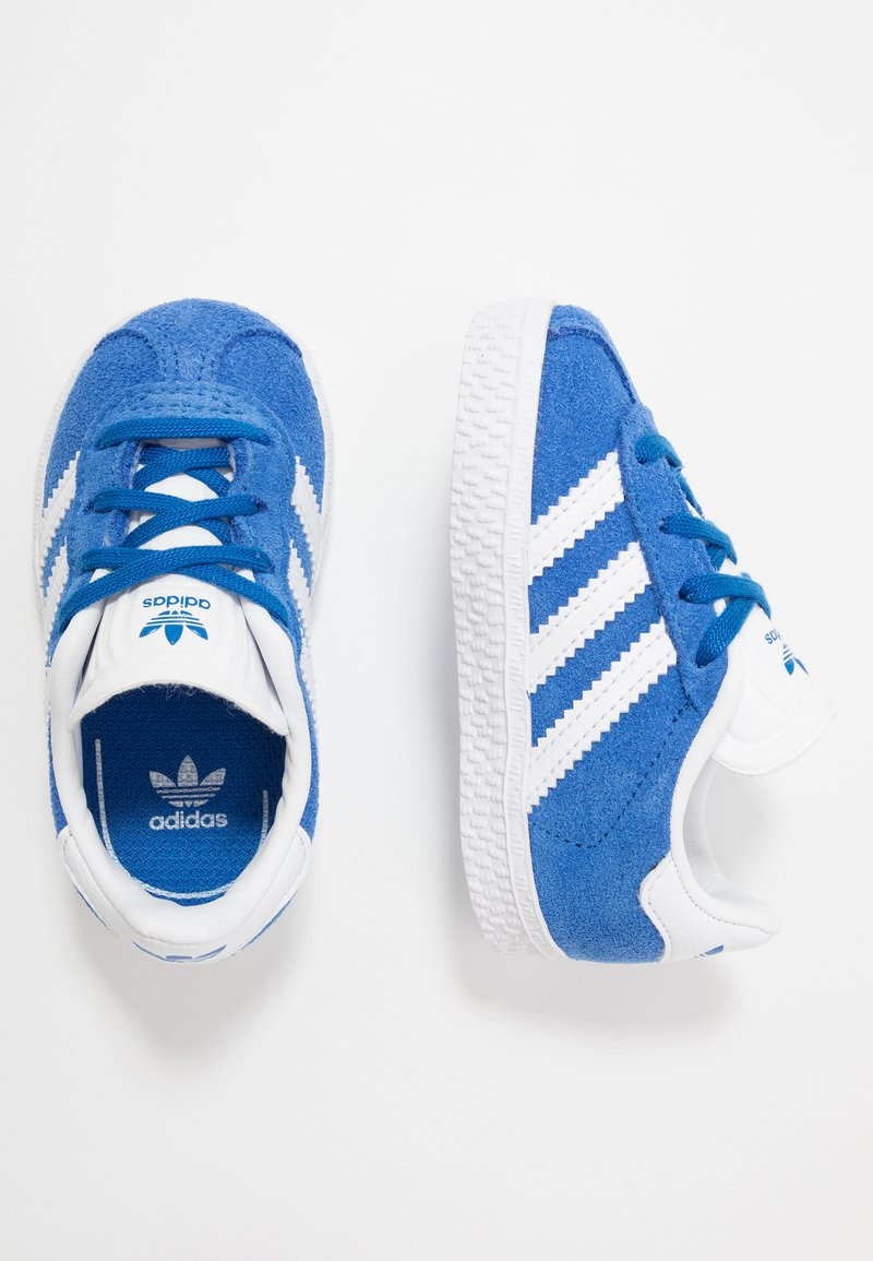 adidas Originals - GAZELLE - Trainers - blue/footwear white/gold metallic