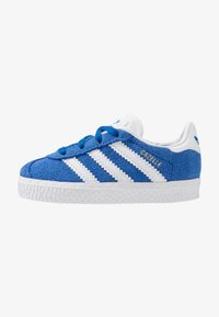 adidas Originals - GAZELLE - Trainers - blue/footwear white/gold metallic - 1