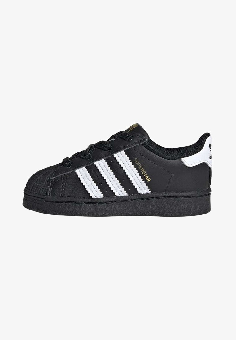 adidas Originals - SUPERSTAR SHOES - Sneakersy niskie - black