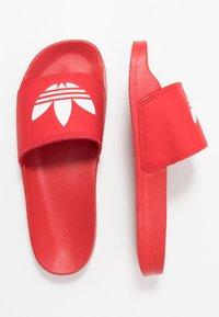 adidas Originals - ADILETTE LITE - Mules - scarlet/footwear white - 0