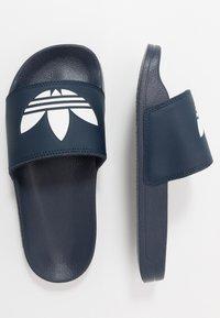 adidas Originals - ADILETTE LITE - Mules - core navy/footwear white - 0