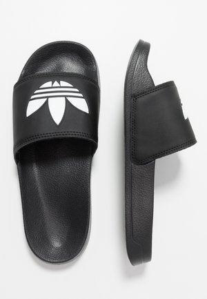 ADILETTE LITE - Pantofle - core black/footwear white