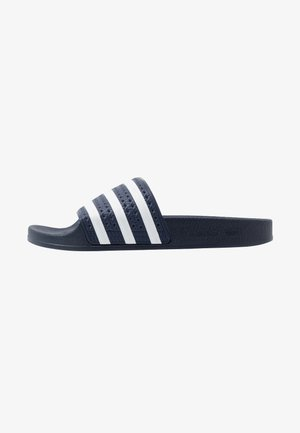 ADILETTE - Sandalias planas - legend ink/footwear white